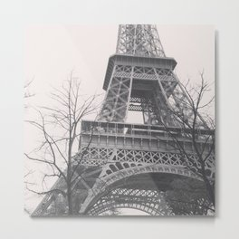 Eiffel tower, Paris, black & white photo, b&w fine art, tour, city, landscape photography, France Metal Print