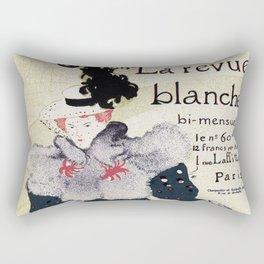La Revue Blanche Toulouse Lautrec Rectangular Pillow