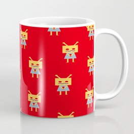 Shy Little Robot (red) Coffee Mug