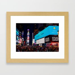 Iconic Time Square Framed Art Print