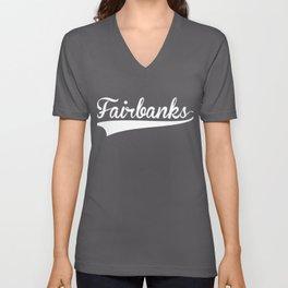 FAIRBANKS Baseball Vintage Retro Font Unisex V-Neck