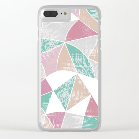 Abstract graphic pattern. Fun triangles. Clear iPhone Case