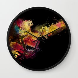guitar art 8 #guitar #art #music Wall Clock