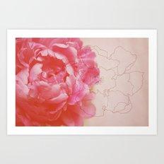 pink milk Art Print