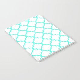 Moroccan Trellis (Turquoise & White Pattern) Notebook
