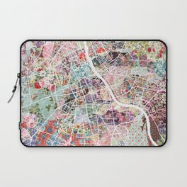 Warsaw map Laptop Sleeve