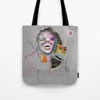 stevie nicks Tote Bags featuring Stevie Wonder by Fitacola