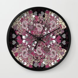 Mature Bush of Pink Love Wall Clock