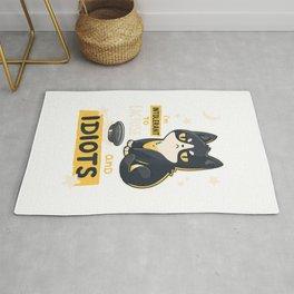 Funny Cats Gift idea I'm Intolerant to Lactose and Idiots T-Shirt Rug