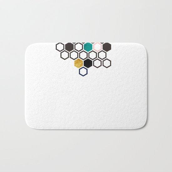 Hexagons Bath Mat