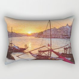 Porto sunset, Portugal Rectangular Pillow
