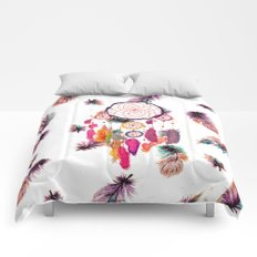 Hipster Watercolor Dreamcatcher Feathers Pattern Comforters