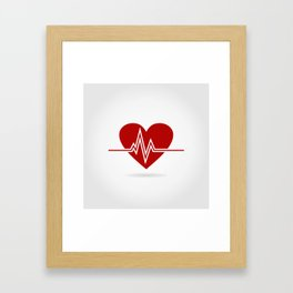 Heart life Framed Art Print