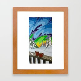 At Home in the Woods Framed Art Print