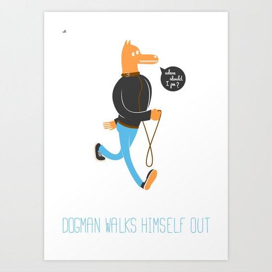 Dog Man Art Print