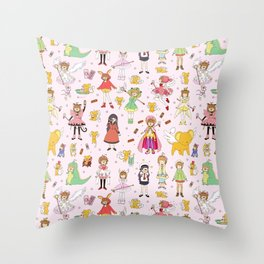 Cutest Cardcaptor! Cardcaptor Sakura Doodle Throw Pillow