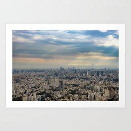 Tehran skyline and cityscape photography Art Print