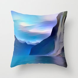 Minimalist Seven Sisters Waterfall Throw Pillow
