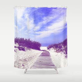 Calmness at the blue sea Shower Curtain