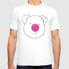 Pig SMALL White Mens Fitted Tee
