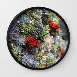 Dreamy Succulents Wall Clock