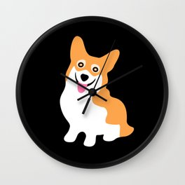 Cute Little Corgi Wall Clock