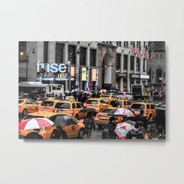 ArtWork New York City USA Black and Colour Metal Print