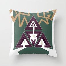 DEERHORN Throw Pillow