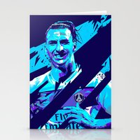 zlatan Stationery Cards featuring Zlatan Ibrahimović : Football Illustrations by mergedvisible