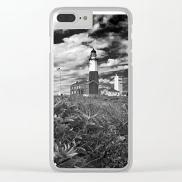"""Montauk Point Lighthouse """"The end"""" Clear iPhone Case"""