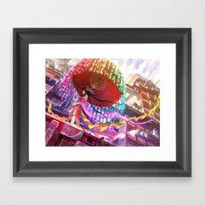 Niji Karakasa (Rainbow Umbrella) Framed Art Print