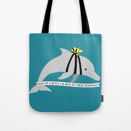 Zissou Dolphin Tote Bag