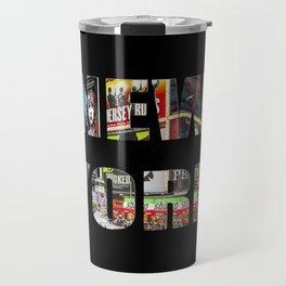 New York (photo type on black) Travel Mug