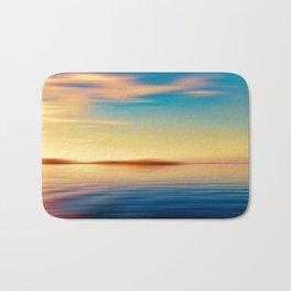 Sunset Seascape Island Bath Mat