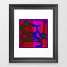 Red Color Leak Framed Art Print