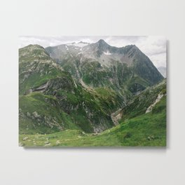 Mighty Mountains of Switzerland Metal Print