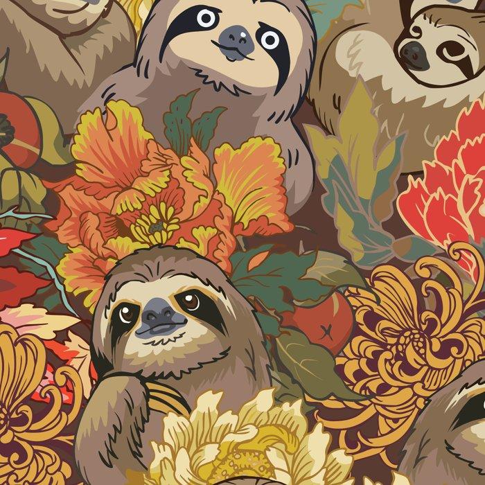 Because Sloths Autumn Leggings