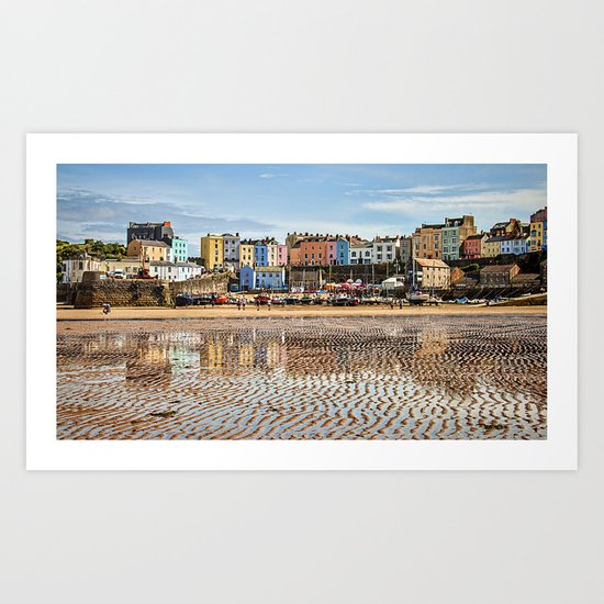 Tenby  Harbour Art Print