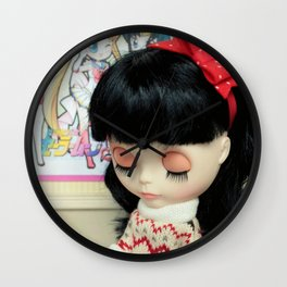 ** Isabelle is at school waiting for her mother to get her back home. ** Wall Clock