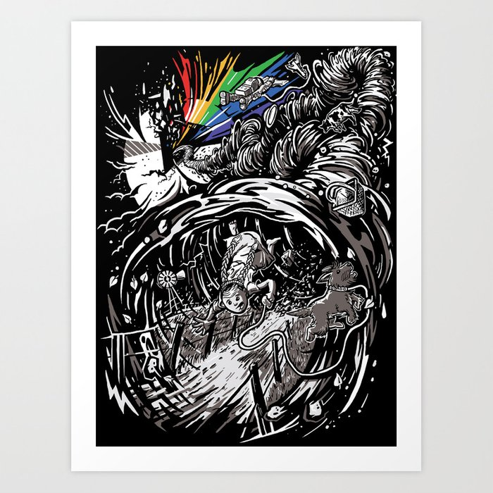 Dark Side of the Rainbow Art Print