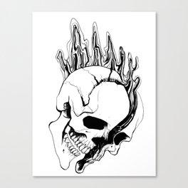 Skull #8 (Spill) Canvas Print