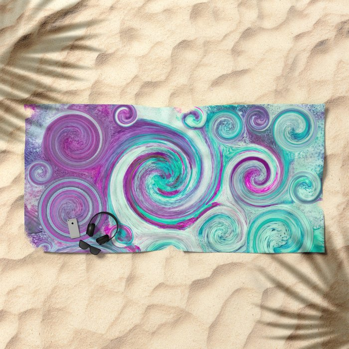flow Beach Towel