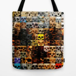 100 Painted Skulls Tote Bag