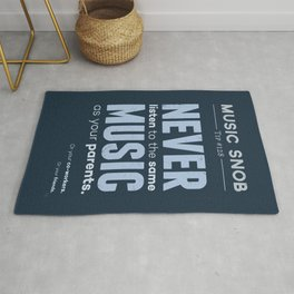 Never Listen to MORE of the Same Music — Music Snob Tip #128.5 Rug