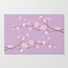 Cherry Blossom - Pale Purple Canvas Print