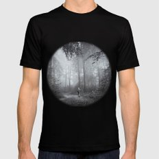seeking silence Black X-LARGE Mens Fitted Tee
