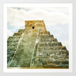 Chichen Itza pyramid Art Print