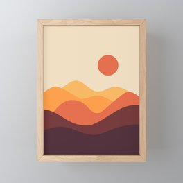 Geometric Landscape 21 Framed Mini Art Print