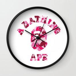 a bathing ape logo Wall Clock