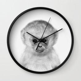 Baby Monkey Wall Clock